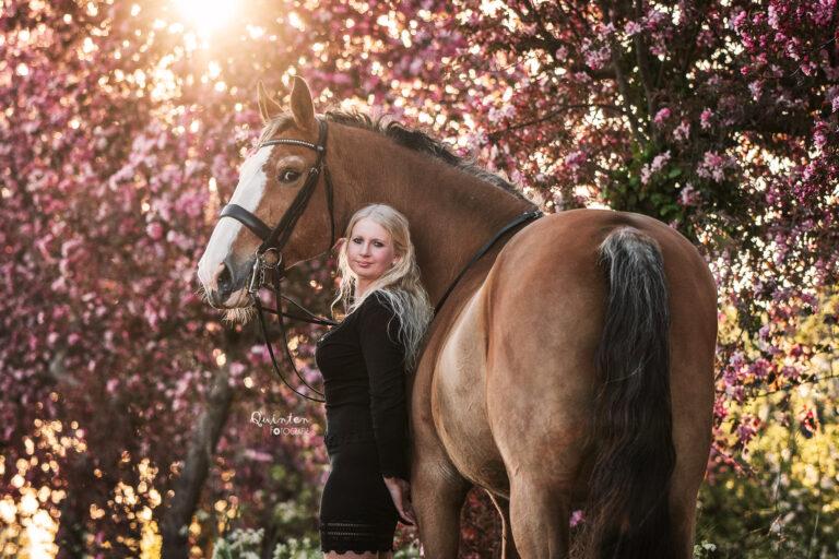 Paardenfotografie mens en dier